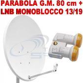 Parabola G.M. 80 cm + Lnb Monoblocco Singolo 13/19